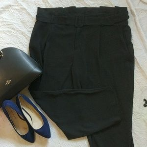 Eloquii black paper bag trousers brand new.